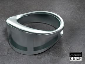 Ring - WOB2 in Polished Bronzed Silver Steel