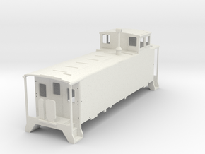 D&RGW Caboose V4 H0  in White Natural Versatile Plastic