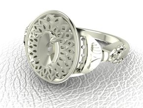 Vintage classic 3 NO STONES SUPPLIED in 14k White Gold