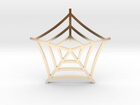 Cobweb Pendant in 14k Gold Plated Brass