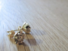 Lotus earrings in 14k Gold Plated Brass