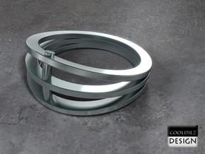 Ring - Vizor in Polished Bronzed Silver Steel