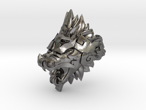 Quetzalcoatl Ring in Polished Nickel Steel