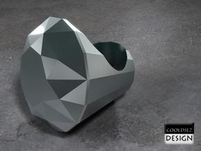 Ring - Big Diamond in Stainless Steel