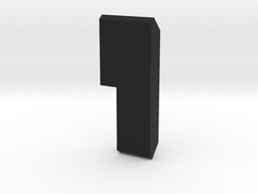 Buildable Nuva Cube Stone 3/6 in Black Natural Versatile Plastic