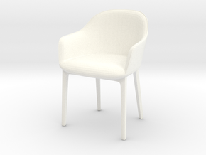 Softshell Chair in White Strong & Flexible Polished