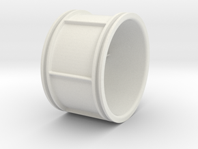 6 Thick Spokes, Racing Wheel Medium size in White Natural Versatile Plastic