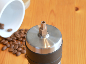 Coffee Grinder Bit For Drill Driver CDP-RE in Polished Bronzed Silver Steel