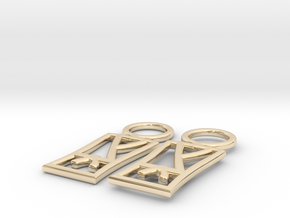 Martial Arts Earrings in 14k Gold Plated Brass