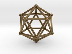 Icosahedron in Polished Bronze