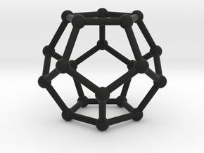 Dodecahedron in Black Natural Versatile Plastic