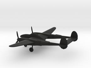 Lockheed P-38 Lightning in Black Natural Versatile Plastic: 1:160 - N
