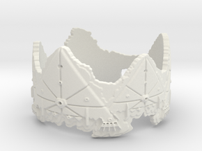 Cloud Ships 2, Ring Size 10 in White Natural Versatile Plastic