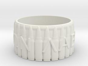 MOLON LABE, Come And Take Them, Size 7.5 in White Natural Versatile Plastic