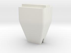 Modular Tool Short Tip No Hole in White Natural Versatile Plastic