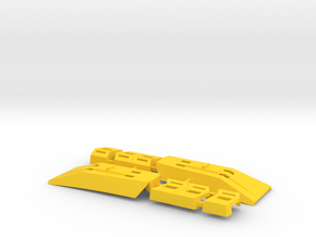 "Omega Supreme Leg Clips or ""shields"" - Finish off  in Yellow Strong & Flexible Polished"