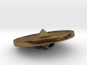 Woodenshield from Stonetowers in Polished Bronze: Large