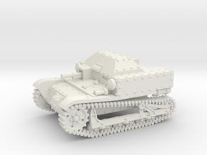 T27a Tankette (1:87 HO scale) in White Natural Versatile Plastic