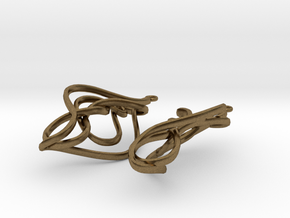 Twisted Drop Earrings  in Natural Bronze