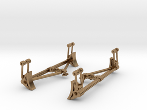 Creco Brake Beam Support in Natural Brass