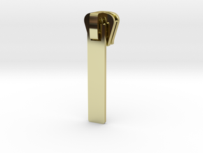 Zip #3 in 18k Gold Plated Brass
