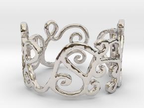 Love Ring Design Ring Size 6.75 in Platinum
