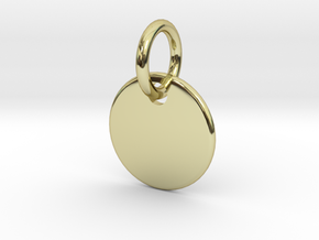 Initial Pendant in 18k Gold Plated Brass
