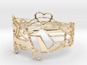 Joke Ring Design Ring Size 6.5 in 14K Yellow Gold