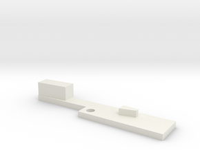 Ares EGLM Latch in White Natural Versatile Plastic