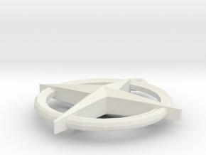 Runescape: Saradomin Pendant in White Natural Versatile Plastic