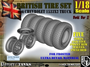 1-18 Chevy LRDG Tire And Rims For FUD in Smooth Fine Detail Plastic