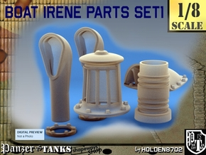 1-8 Boat Irene Parts Set1 in Smooth Fine Detail Plastic