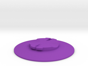 Garmin Quarter-Turn Flat Mount in Purple Processed Versatile Plastic