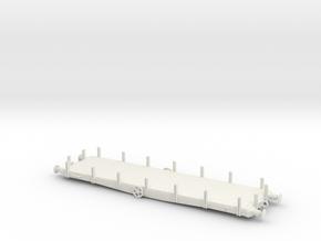 Flat wagon in White Natural Versatile Plastic