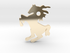 Horse Pendant in 14k Gold Plated Brass