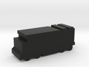 Game Piece, Freight Train, Diesel Locomotive in Black Natural Versatile Plastic