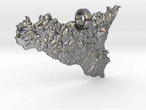 Pendente di Sicilia in Polished Silver