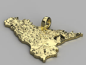 Pendente di Sicilia in 14k Gold Plated Brass
