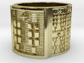 BABA OKANA MEYI Ring Size 13.5 in 18k Gold Plated Brass