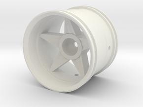 2.2 in. Solid Star Wheel in White Natural Versatile Plastic
