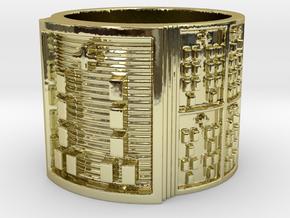 BABA OGUNDA MEYI Ring Size 11-13 in 18k Gold Plated Brass: 12 / 66.5