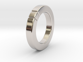 Caleb - Cubeamond Ring in Rhodium Plated: 6 / 51.5