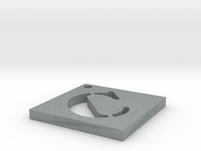 C in Polished Metallic Plastic