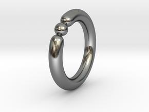 Bali Bania - Ballamond Ring in Polished Silver: 6.75 / 53.375