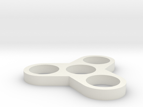 RoundSpinnerV3 in White Natural Versatile Plastic