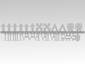 Vehicle Icons With Numerals in Smooth Fine Detail Plastic