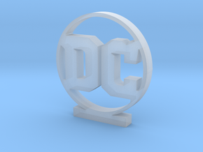 DC Logo in Smooth Fine Detail Plastic