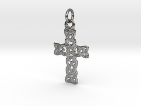 Celtic Pendant in Polished Silver