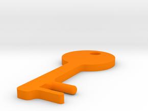 Round Key Shaped SmartPhone Stand in Orange Processed Versatile Plastic