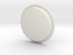 TLF# -  Shabby Button in White Natural Versatile Plastic